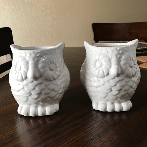 Other Set Of White Owl Vases Final Markdown Poshmark